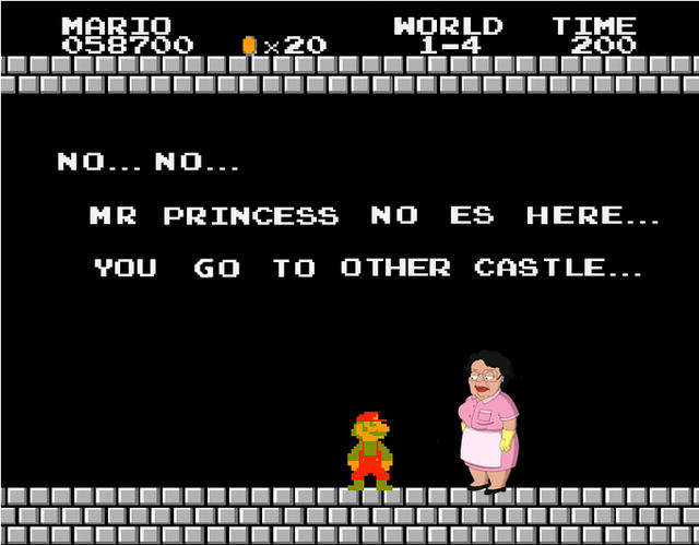 No No Mr. Princess No Es Here.  You Go to Other Castle