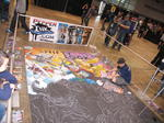 Shifty Look Floor Mural
